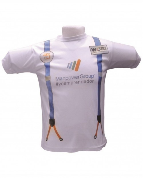 Playera promocional para caballero cuello redondo,Manpower Group.
