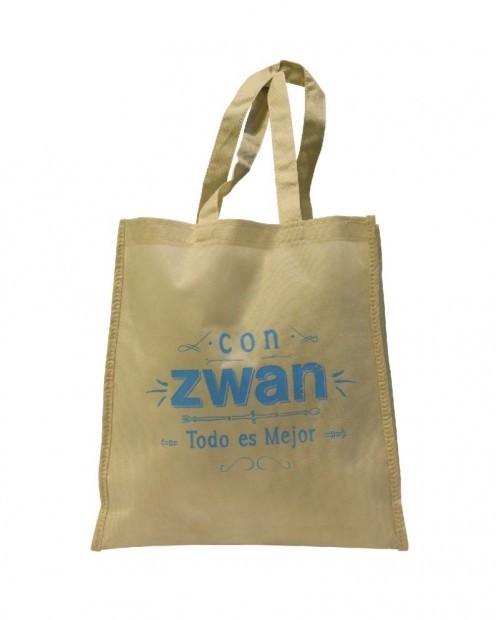 Bolsa publicitaria para compras, con Zwan todo es mejor.