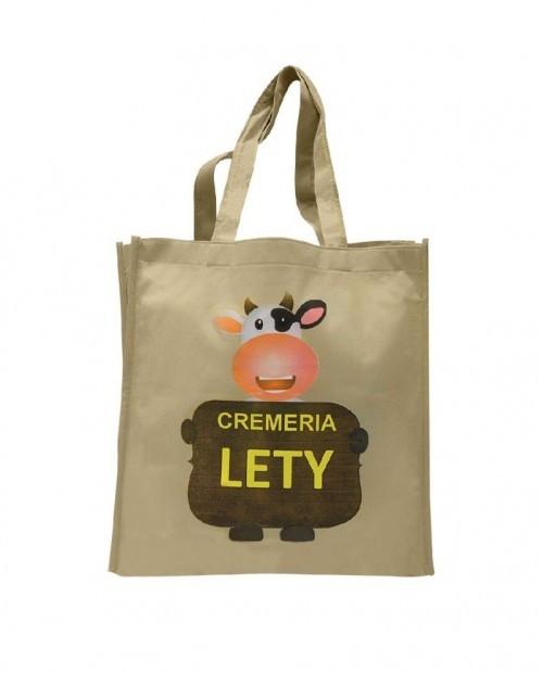 Bolsa promocional para compras, Cremeria Lety.