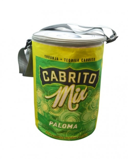 Hielera publicitaria en forma de lata, Cabrito Mix