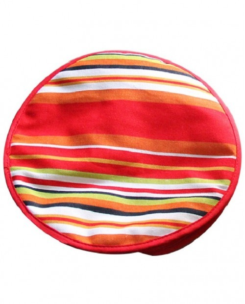 Tortillero promocional redondo diseño rayas de colores