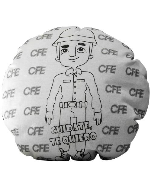Cojín promocional coloreable, CFE Te Quiero